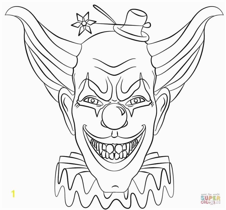 Fresh Coloring Pages Pennywise The Clown Stock