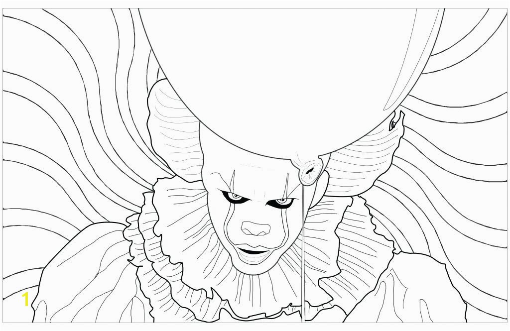 Pennywise Coloring Pages Printable The Clown Disney Cars Fresh Stock