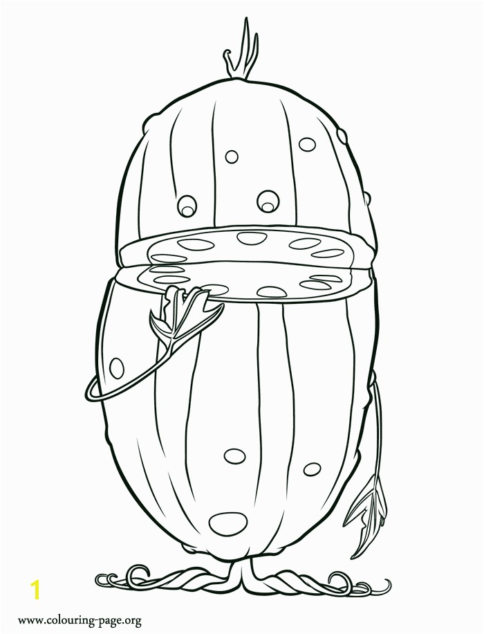 Here is Dill one of the Pickles He is a character from movie Cloudy with a Chance of Meatballs 2 Enjoy this amazing coloring sheet and have fun