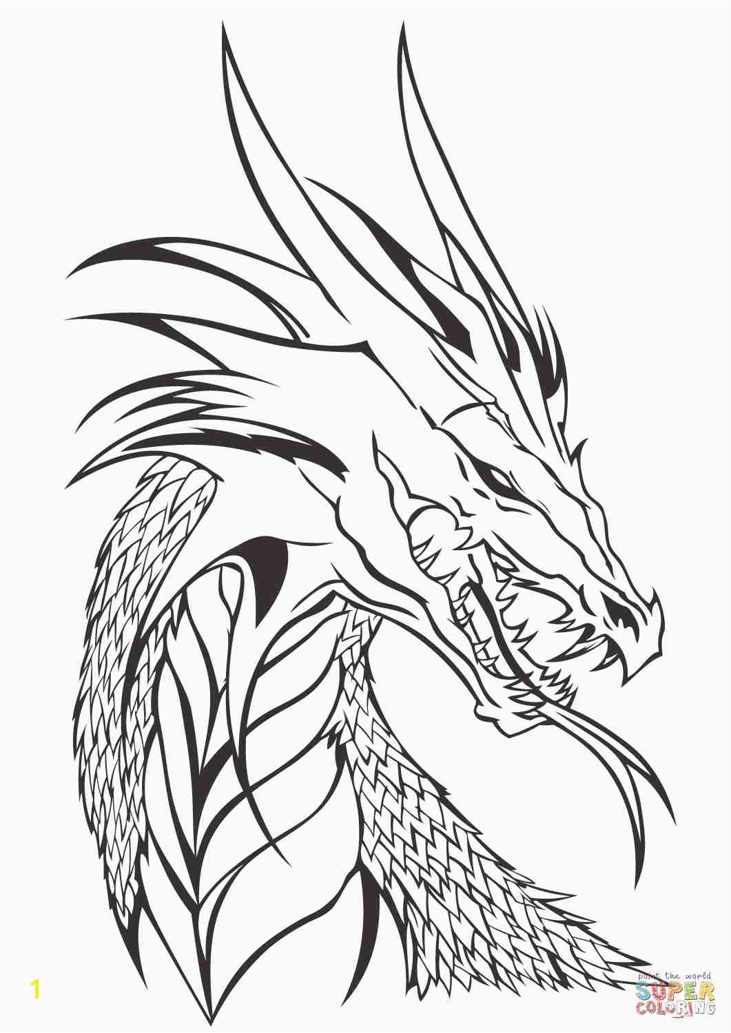 Simple Realistic Dragon Coloring Pages Ninjago Pinterest Lovely Head