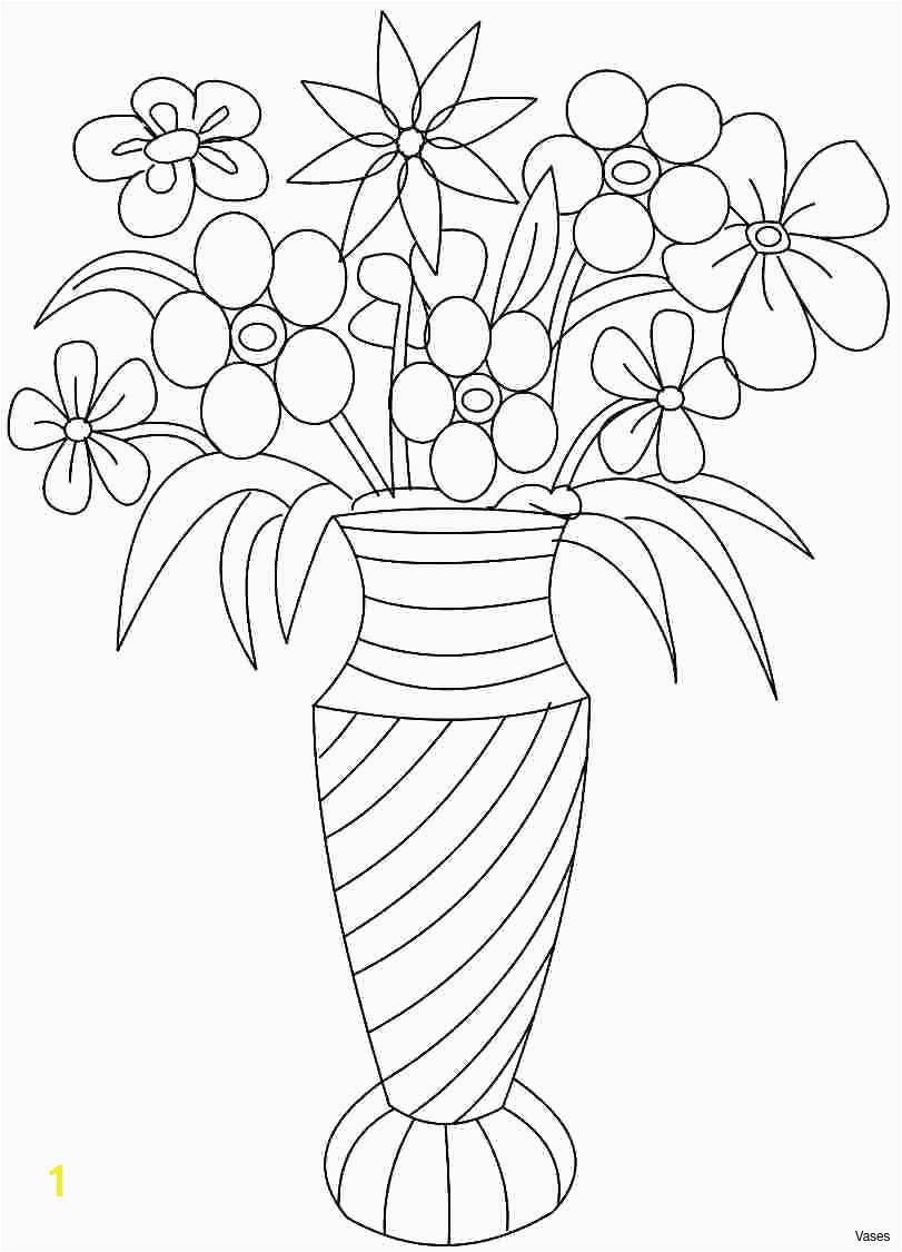 Coloring Pages Roses Vases Flower Vase Coloring Page Pages Flowers In A Top I 0d