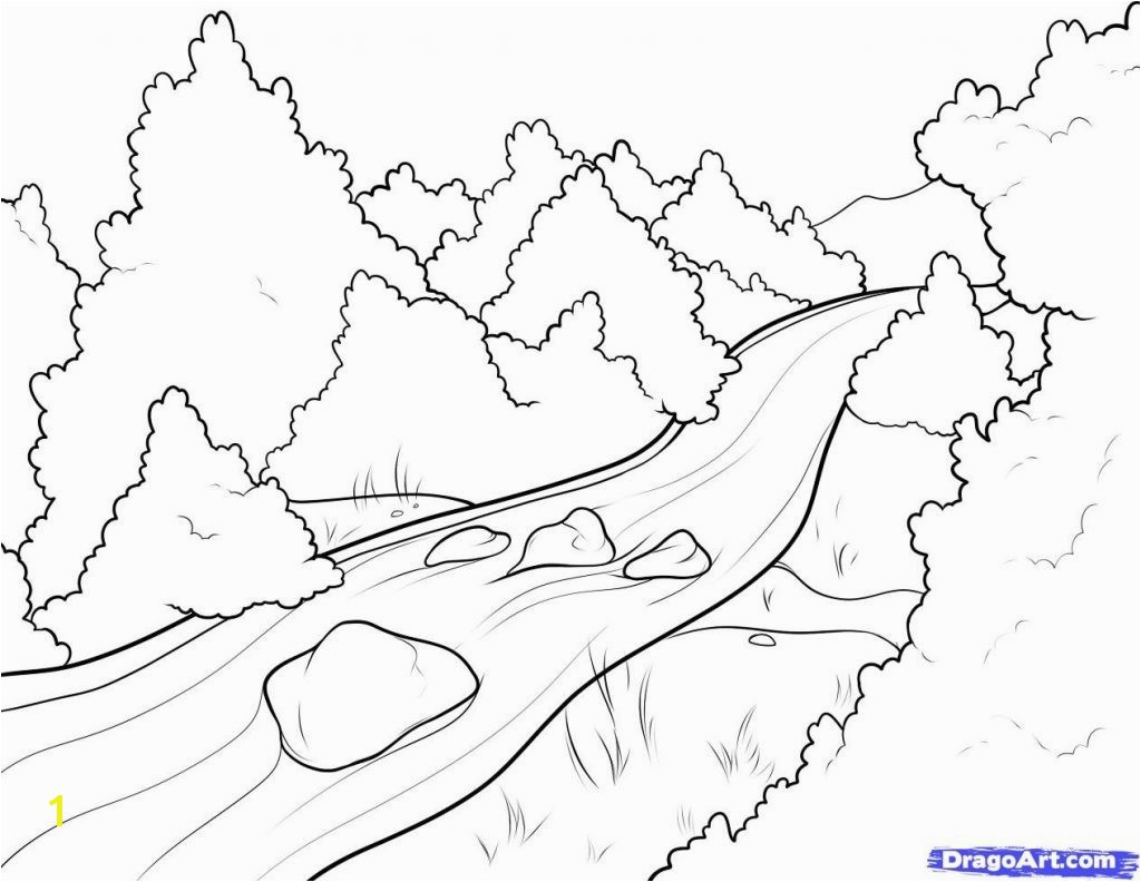 Reliable Coloring Pages Rivers Perfect Page A River Scene Best s 1024—792 4