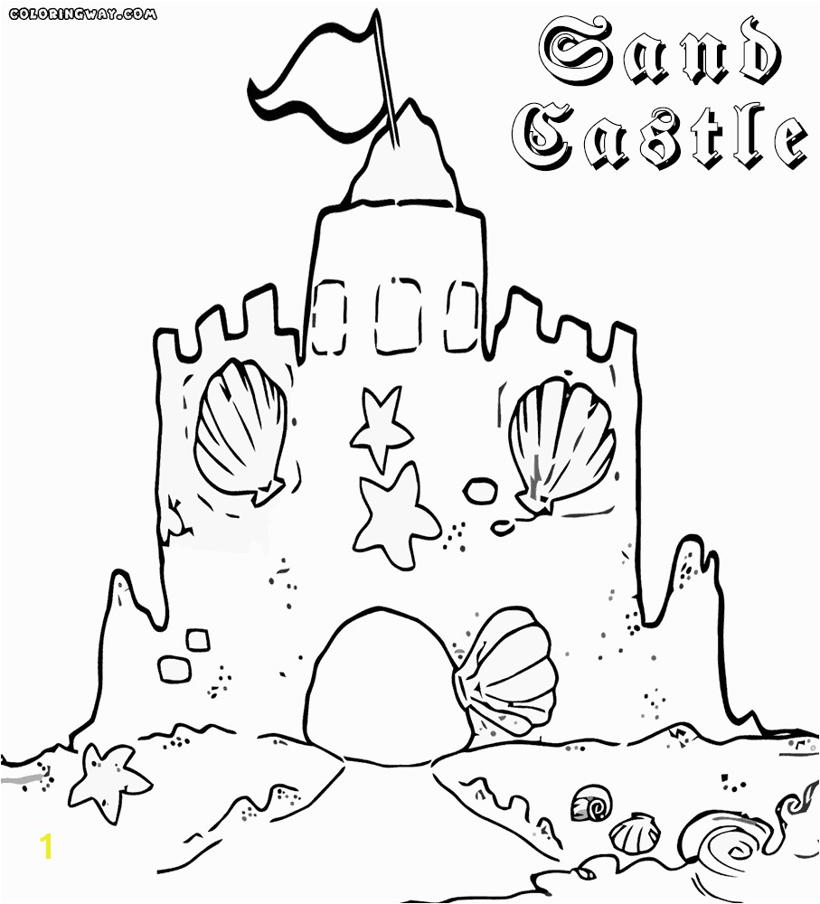Best of sand castle coloring sheet Gallery 20t More from site Gingerbread House coloring pages