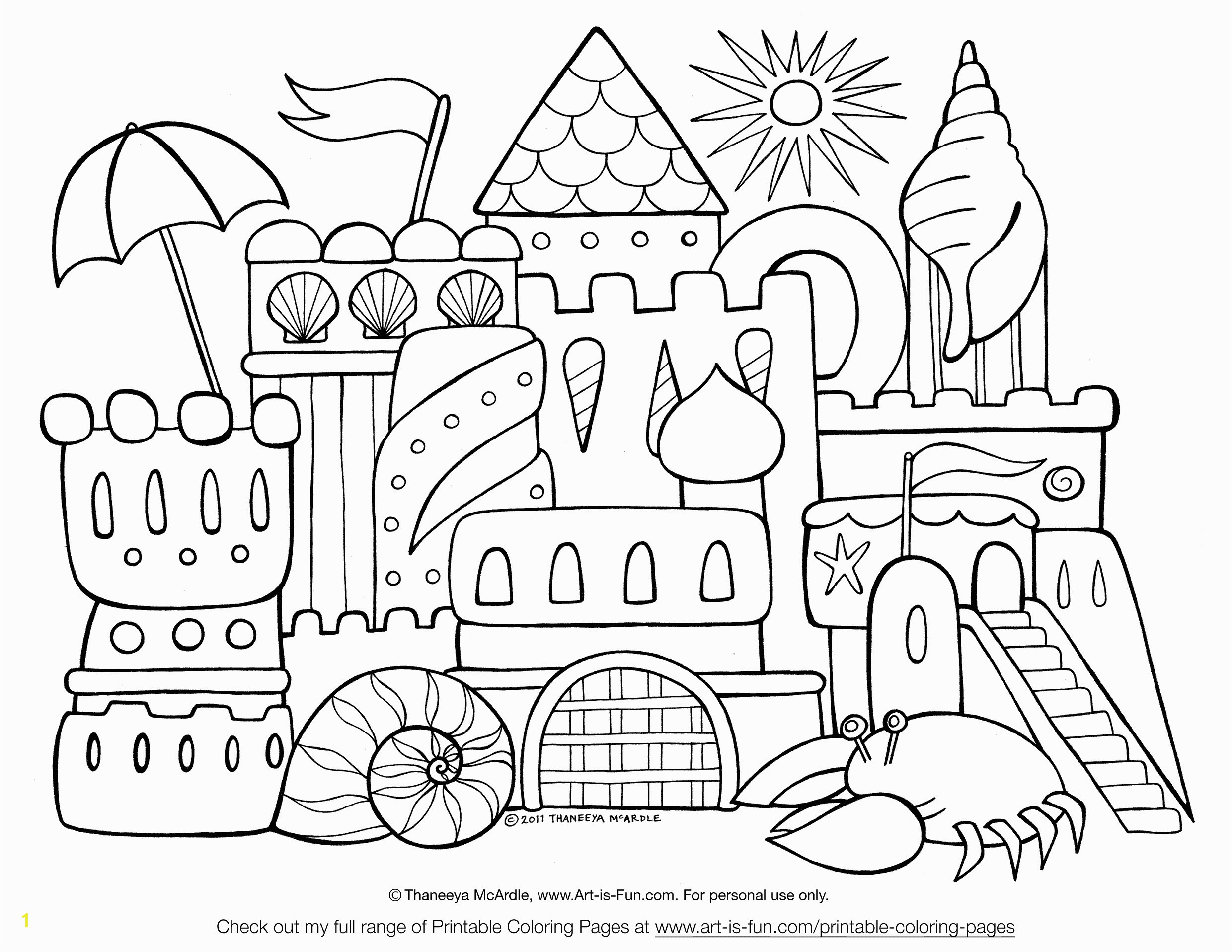 sand castle coloring sheet sand castle coloring page