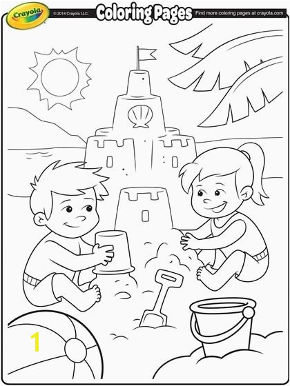 Beach Coloring Best Color Your Dream Sand Castle with This Summer Coloring Page