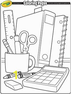Coloring Pages Of School Supplies Free Back to School Coloring Pages
