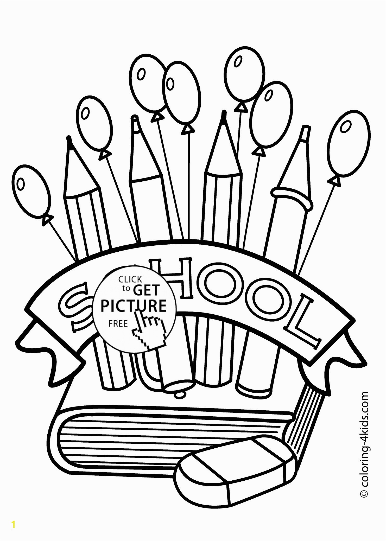 School Supplies Coloring Pages Printables Best Lovable First Day School Coloring Pages for Kindergarten Pics