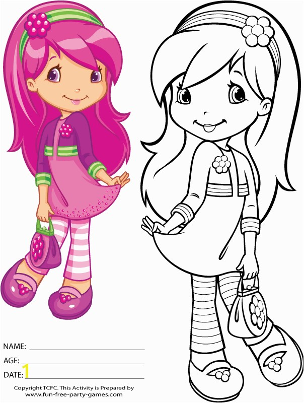 22 Strawberry Shortcake Coloring Pages Free To Print