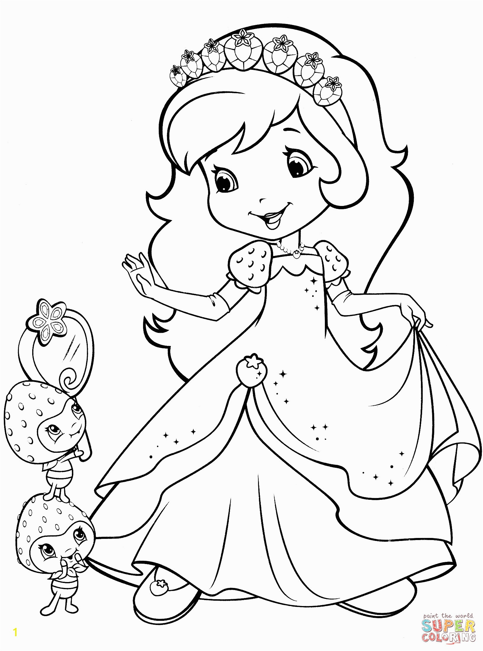 Coloring Pages Of Strawberry Shortcake and Her Friends Strawberry Shortcake and Berrykins Coloring Page Games Nazly