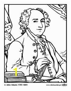 Coloring page 02 John Adams