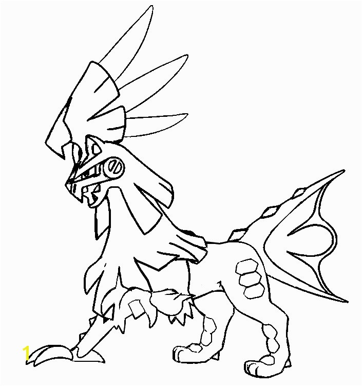 Coloring page Silvally