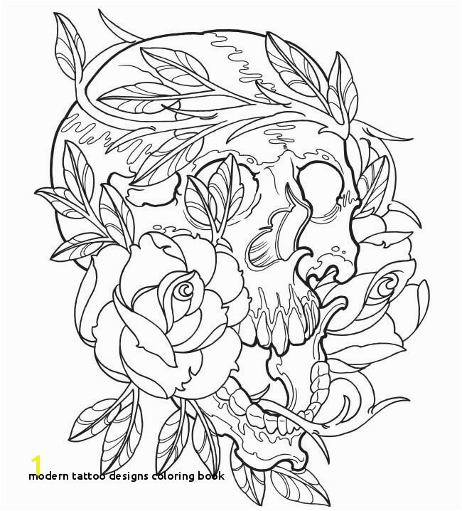 30 Modern Tattoo Designs Coloring Book