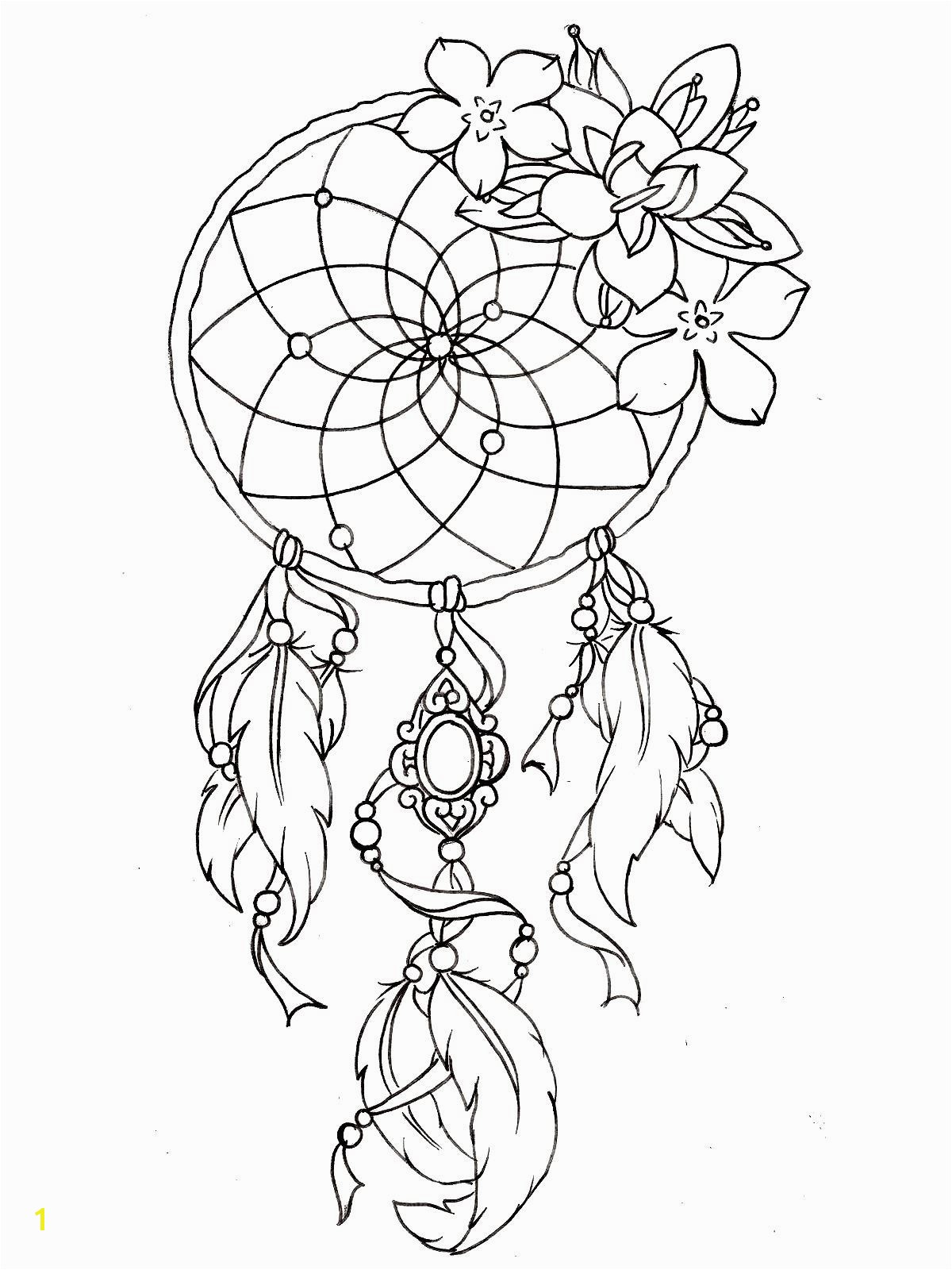To print this free coloring page coloring dreamcatcher tattoo designs click on the printer icon at the right