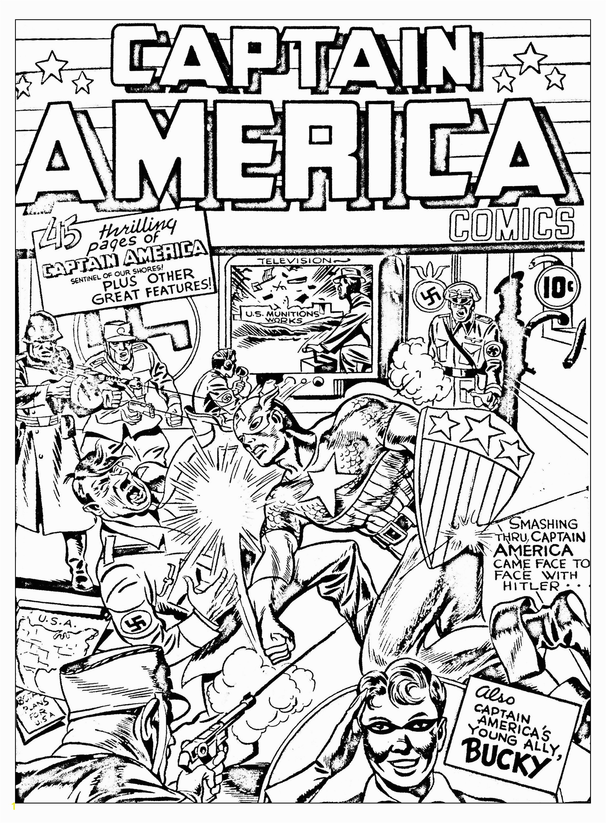 Simplified Free Marvel ic Coloring Pages Page Adult Avengers Couverture A Cover
