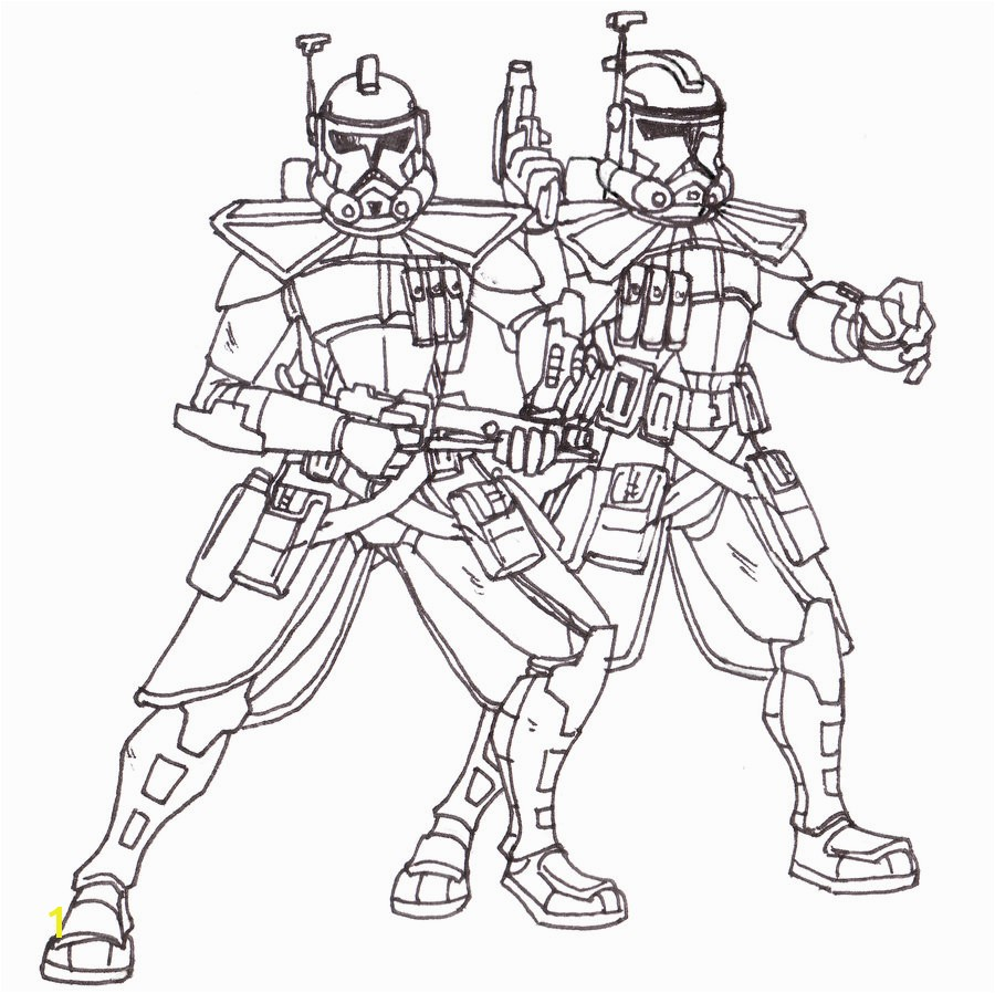 Epic Star Wars Clone Trooper Coloring Pages At
