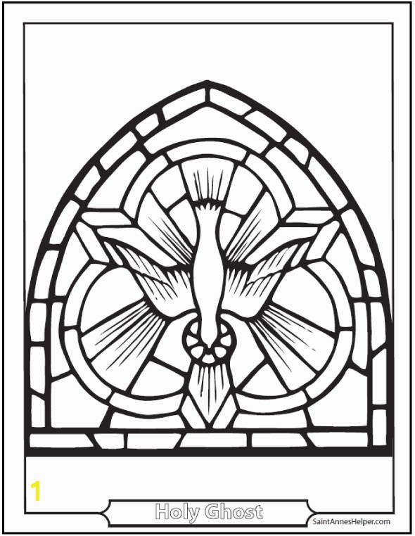 This Holy Spirit dove coloring page Symbol of the Descent of the Holy Ghost on the Apostles and Mary on Pentecost Sunday 50 days after Easter