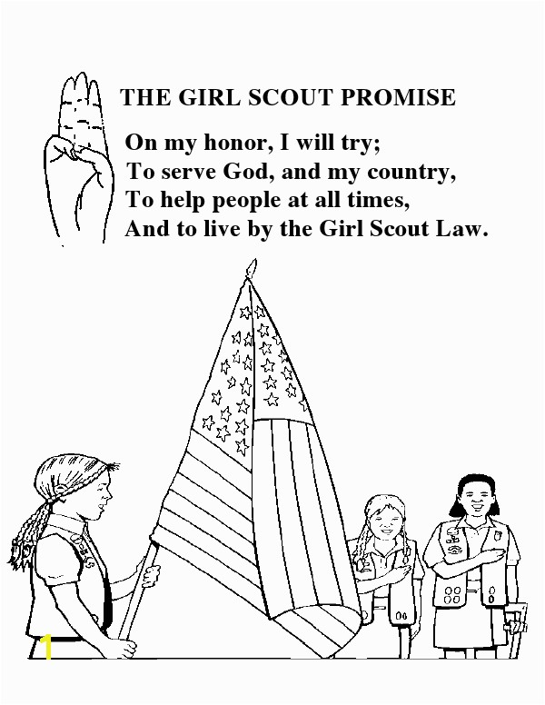 Considerate and Caring Coloring Page Girl Scout Promise Coloring Sheet Gs Promise Pinterest