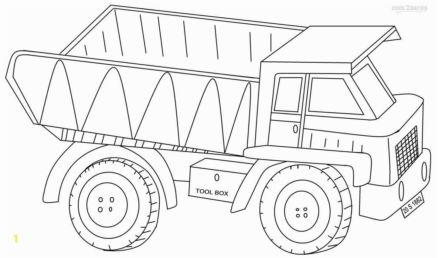 Dump Truck Coloring Pages Coloring Page A Dump Truck Printable Coloring Pages For Kids