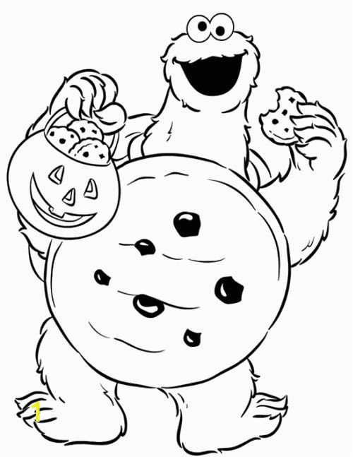 Cookie Monster Halloween Coloring Pages Cookie Monster Halloween Coloring Page