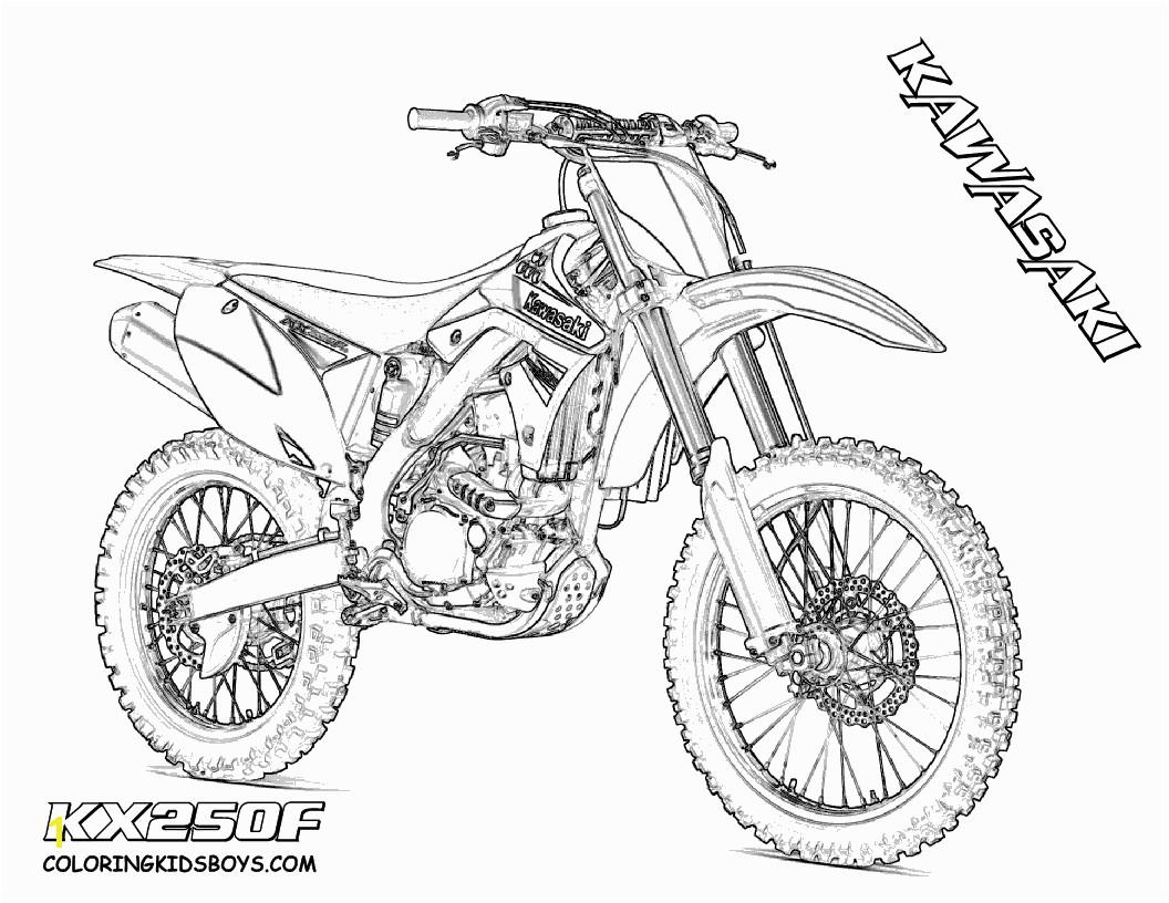 Dirt Bike Outline Dirt Bike Coloring Dirtbikes Free Motosports
