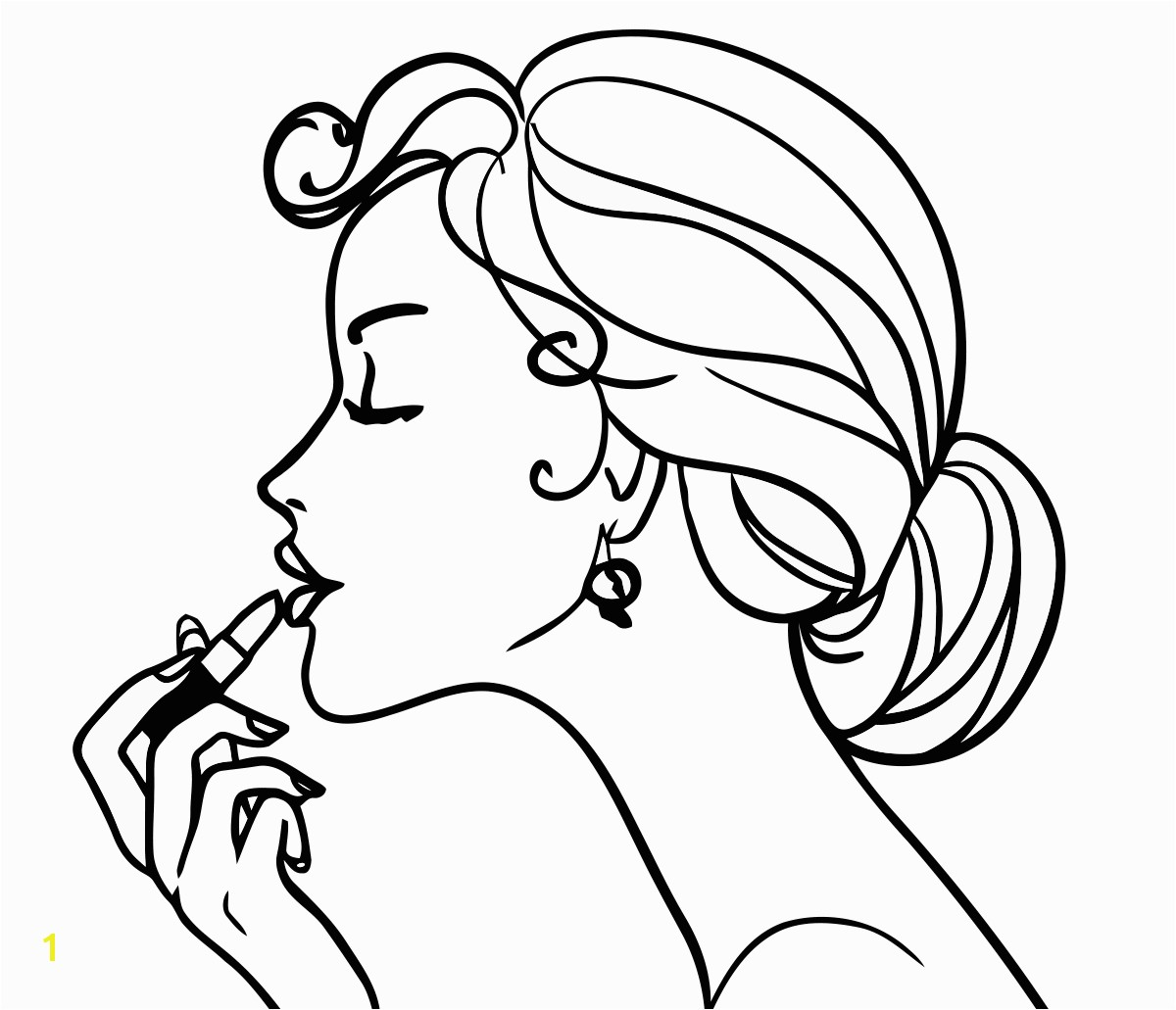 Coloring Girls coloring pages for girls makeup cosmetics beautiful girl