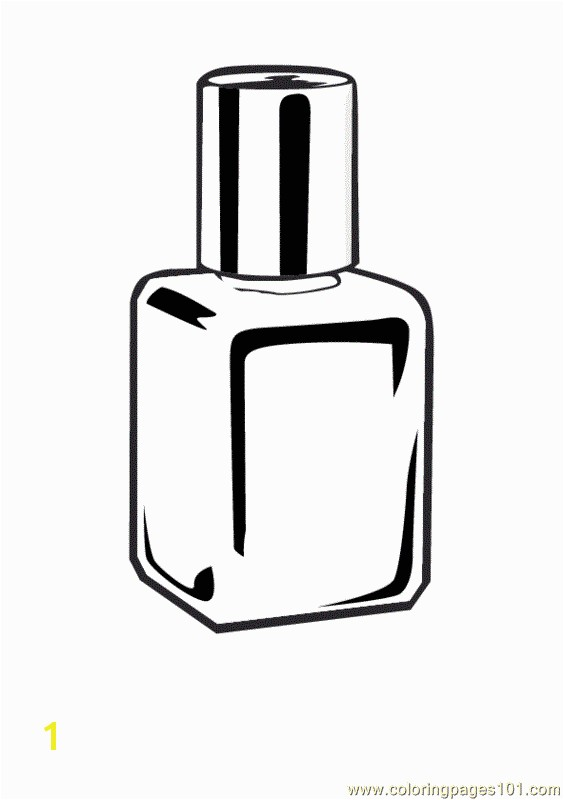 Cosmetic Coloring Pages Nailpolish Coloring Page Free Cosmetic Coloring Pages