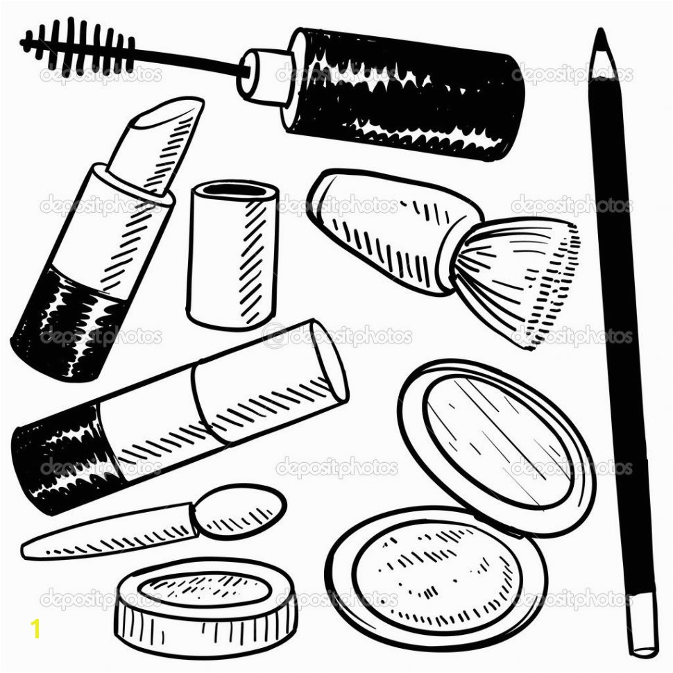 Startling Cosmetic Coloring Pages Color Bros