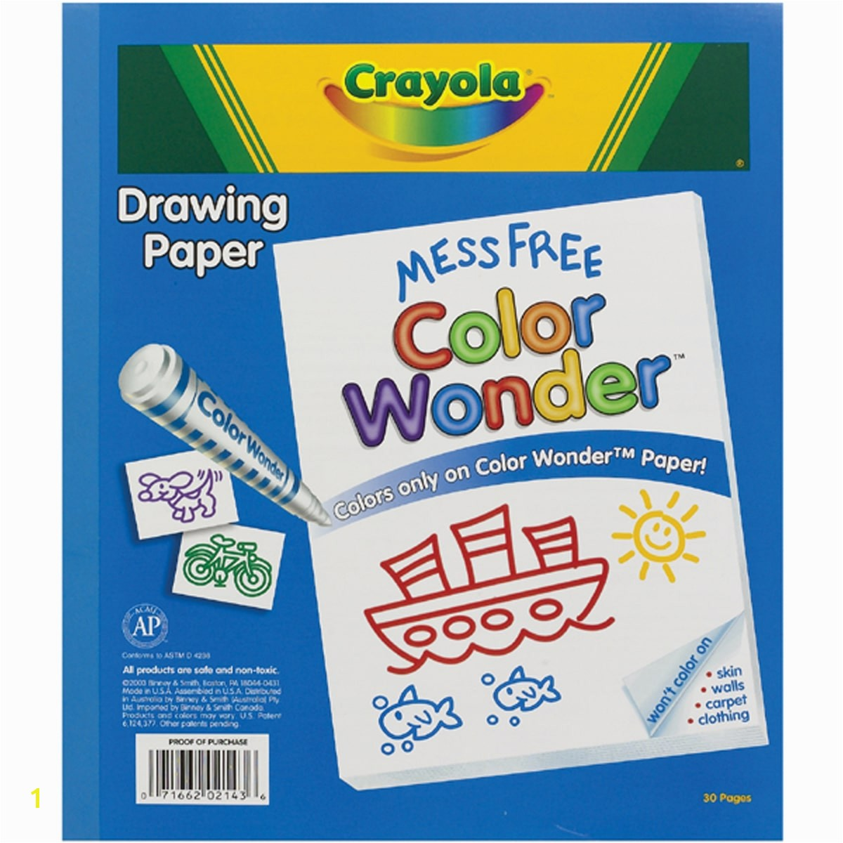 Crayola Color Wonder Drawing Pad 30 pages of Mess Free Canvas to use with Color Wonder Mess Free Markers and Paints Walmart