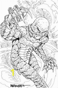 Creature from the Black Lagoon coloring page