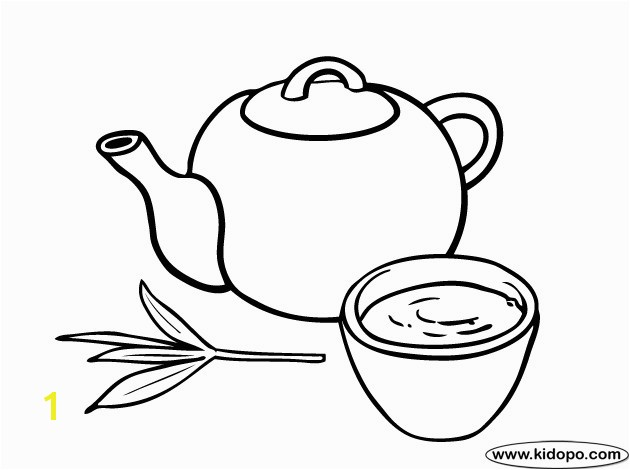 Cup Tea Coloring Page Inspirational Green Coloring Pages Democraciaejustica Stock