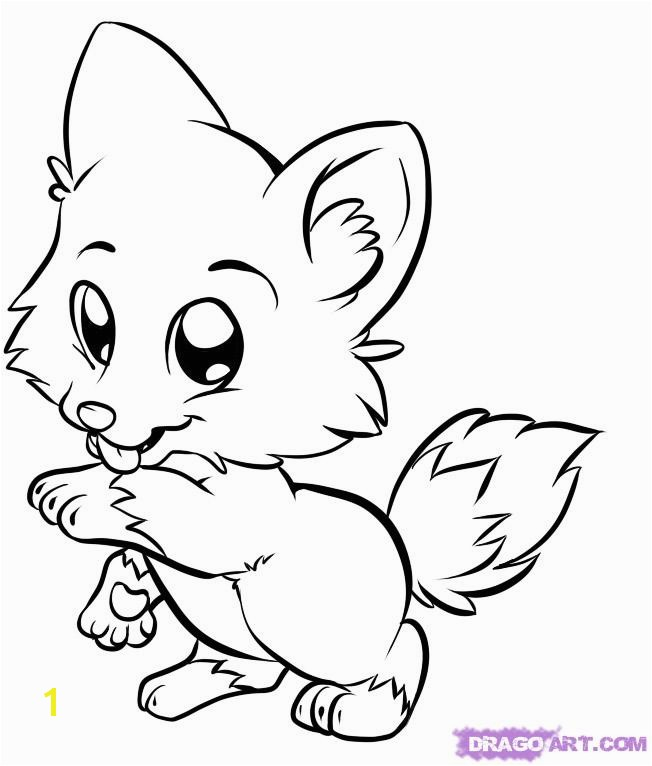 Cute Baby Animal Coloring Pages to Print Cute Cartoon Animals Drawing at Getdrawings