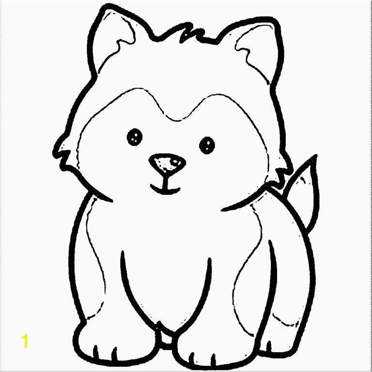 Coloring Pages Cute Puppies Awesome Husky Puppy Drawing to Color Clipartxtras