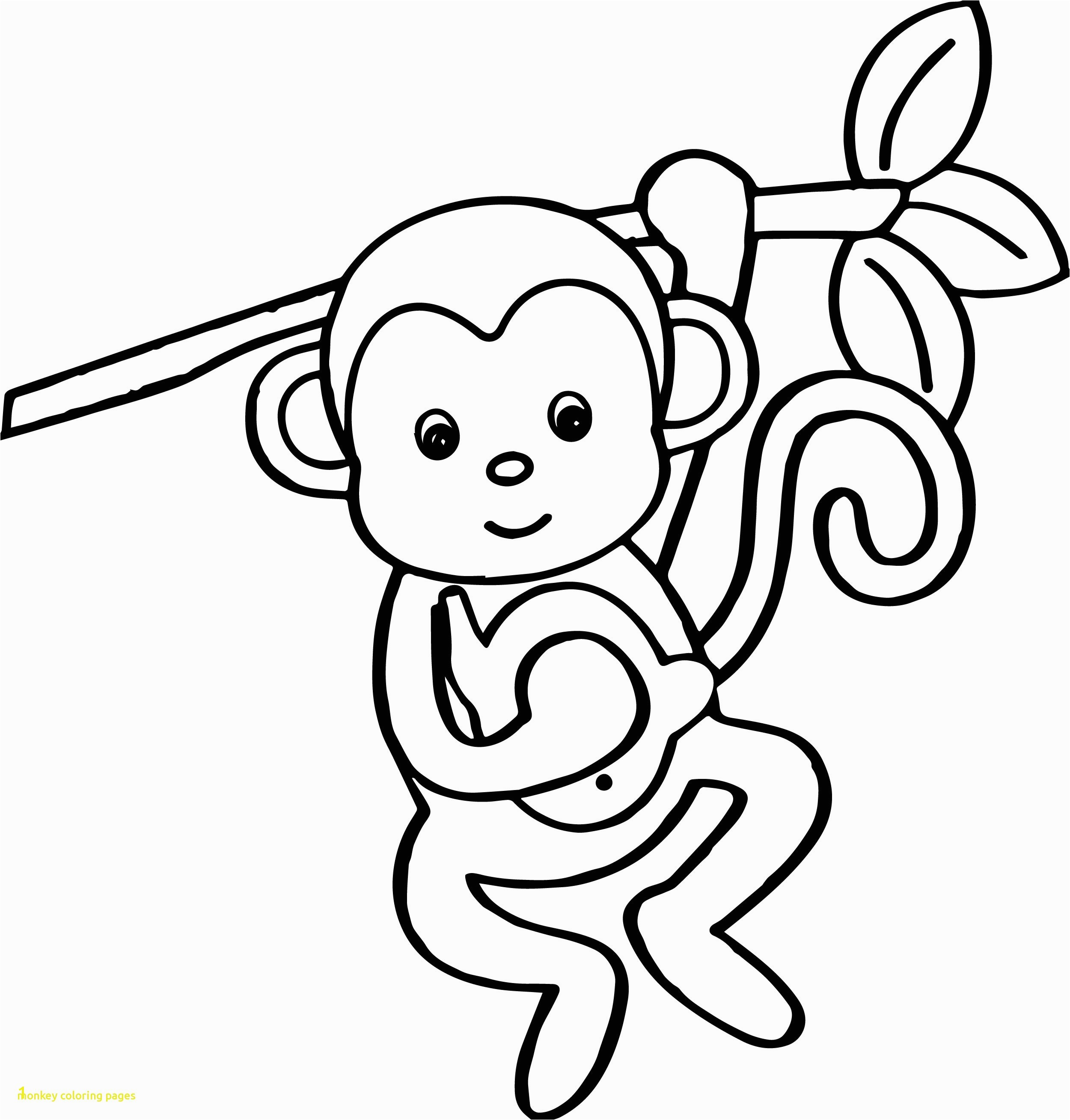Cute Monkey Coloring Pages 44 with Cute Monkey Coloring Pages 1