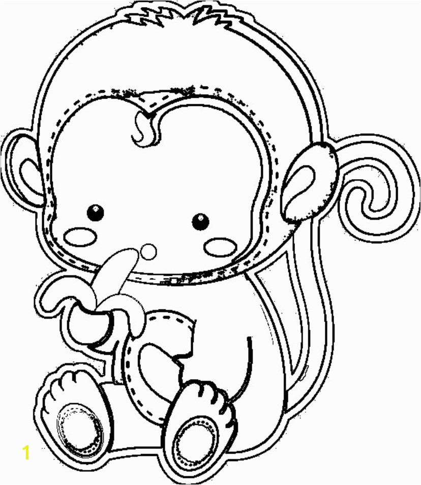 Cute Monkey Coloring Pages 77 with Cute Monkey Coloring Pages