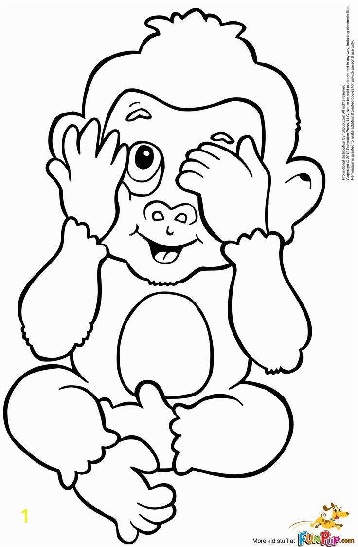 Cute Monkey Coloring Pages Cute Monkey Coloring Pages Baby Monkey Coloring Page Cute