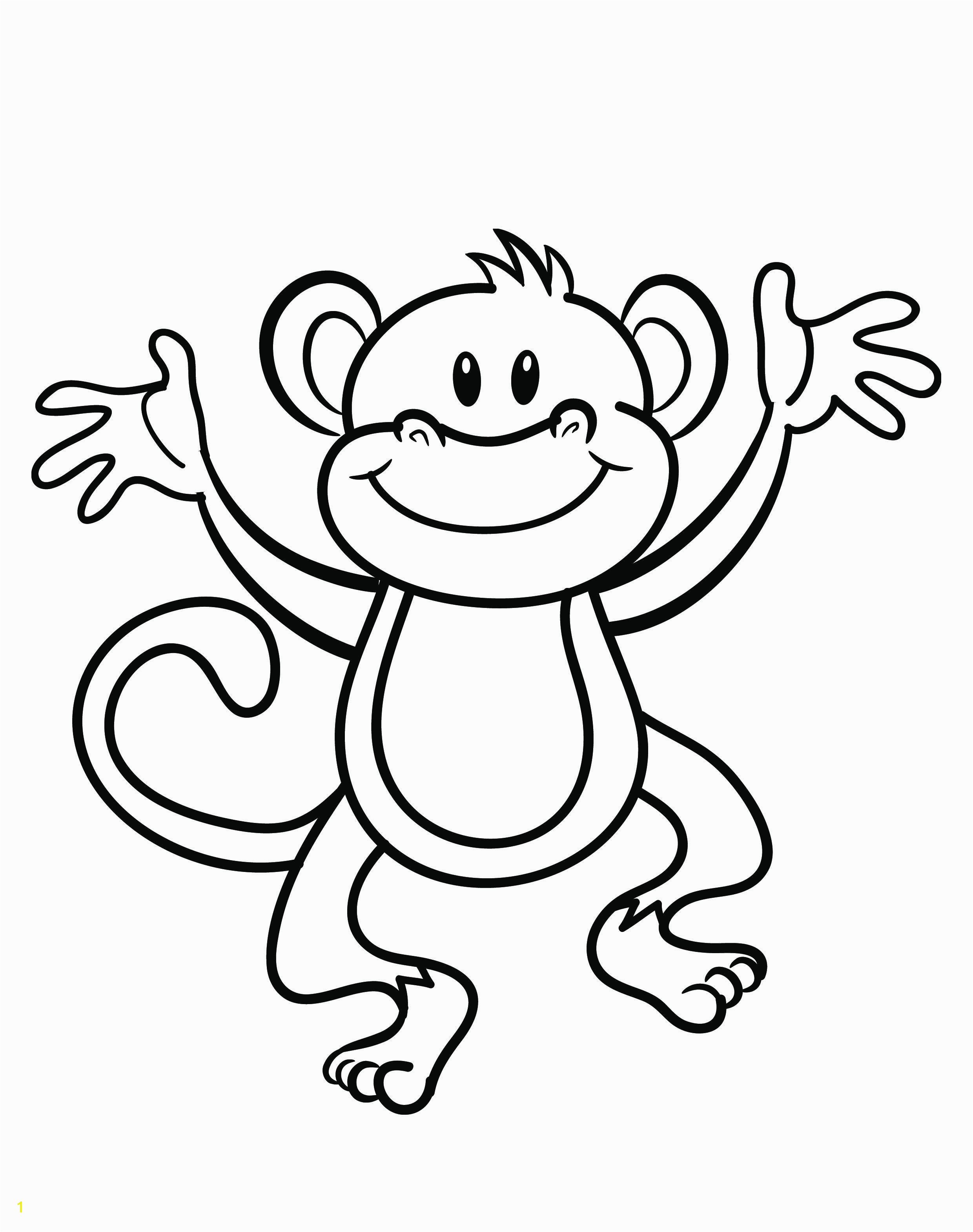 Free printable monkey coloring page