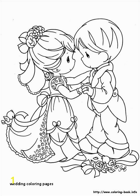 29 Wedding Coloring Pages Wedding Coloring Pages Precious Moments