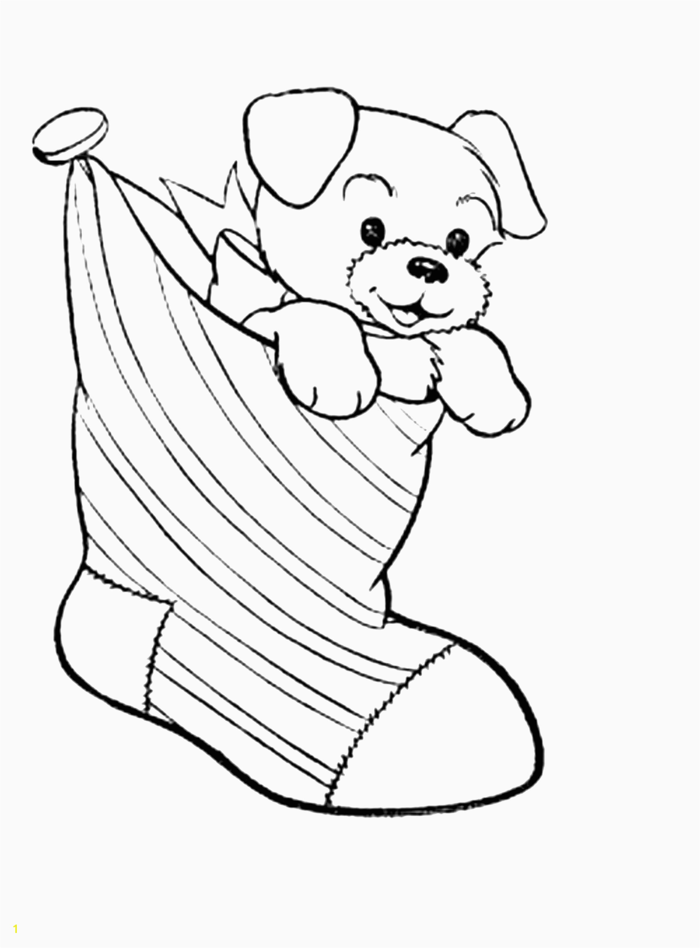 Puppy Christmas Coloring Pages With Cartoon Page For Kids Animal Best And Awesome Od Dog Free
