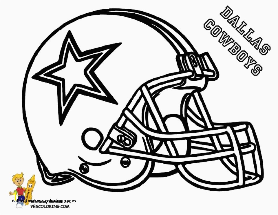 Dallas Cowboys Coloring Pages Get This Nfl Football Helmet Coloring Pages