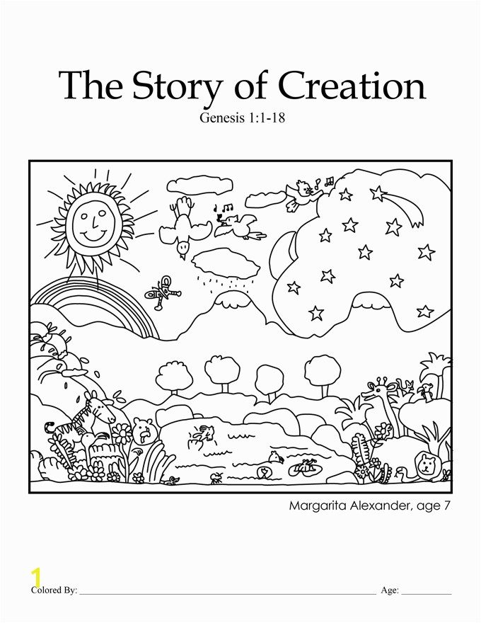 creation coloring pages for preschoolers