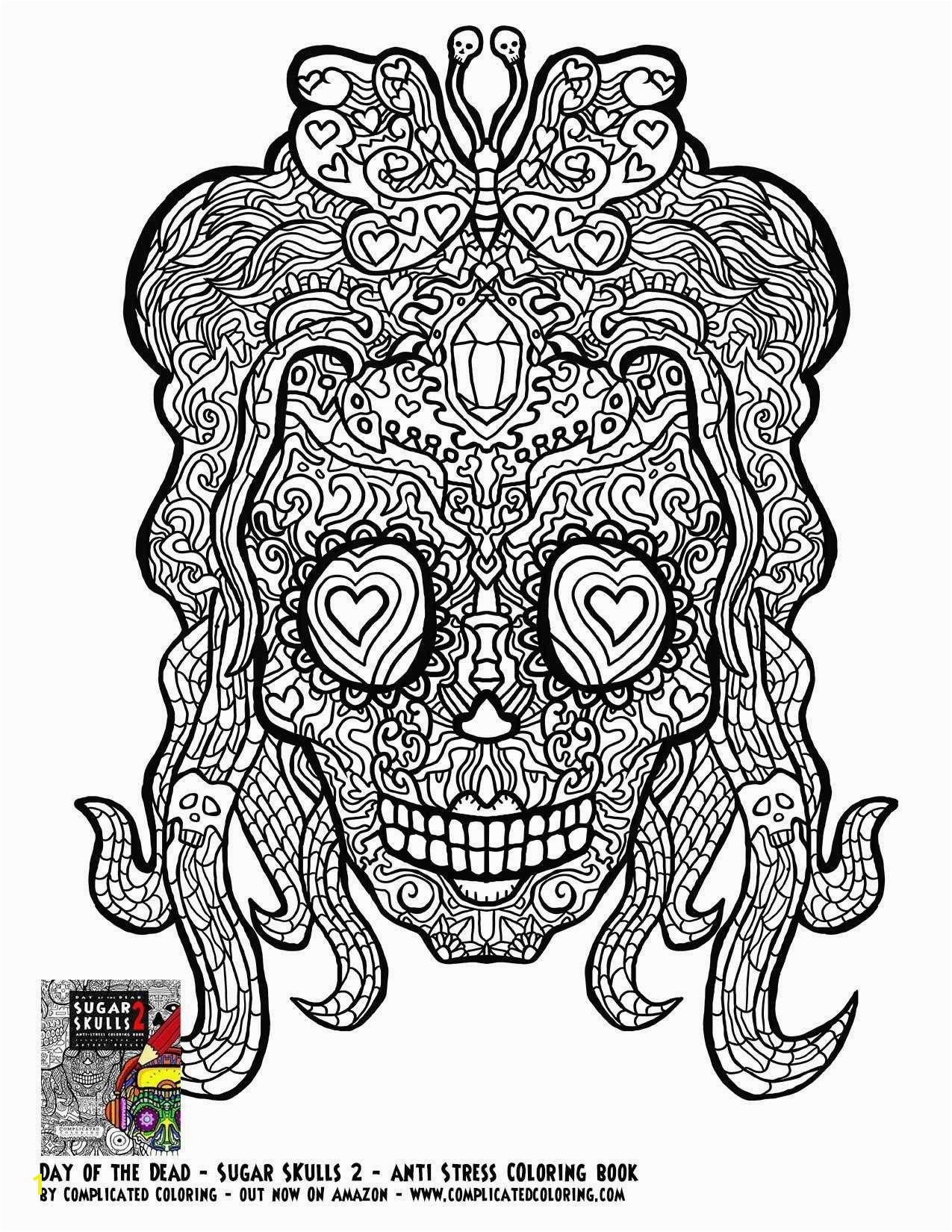 Girl Sugar Skulls Coloring Pages Printable Printable Coloring Book Pages for Adults New Sugar Skull Day