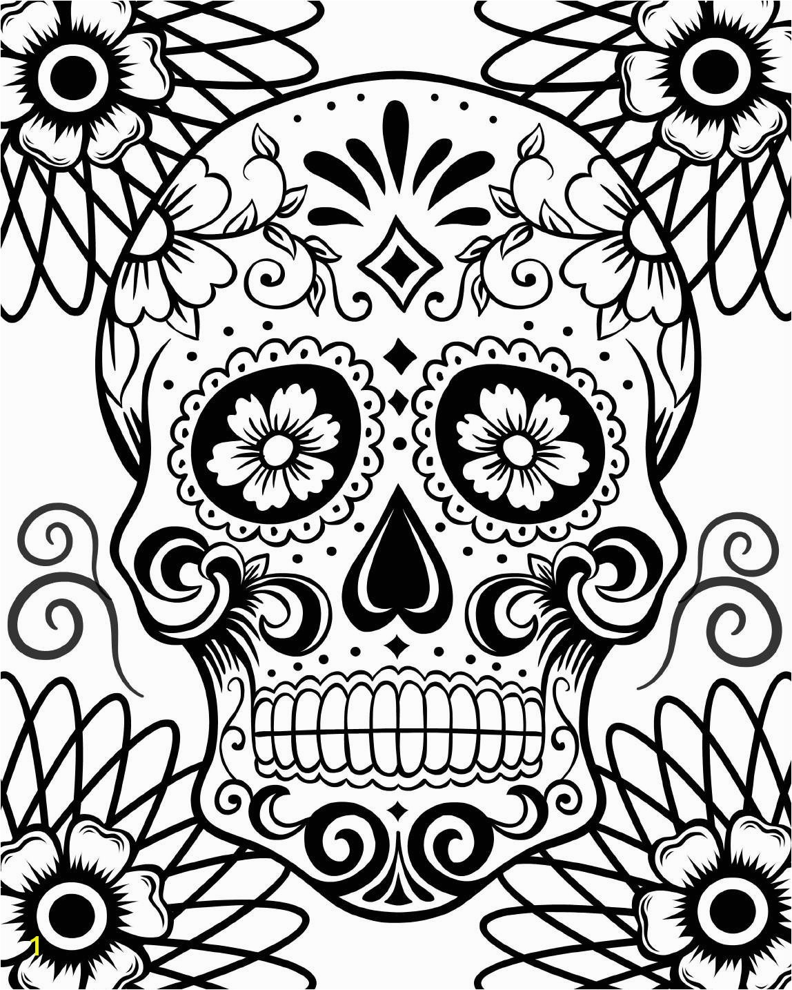1148x1434 Free Printable Day The Dead Coloring Pages Best Beauteous Skull