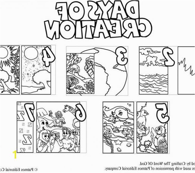Creation Coloring Pages Printable Simple Creation to Color 6 Days Creation Pages