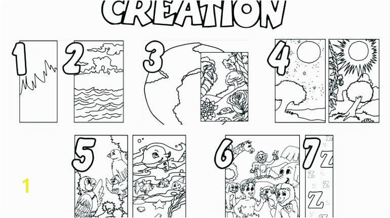 Days Creation Coloring Pages 9