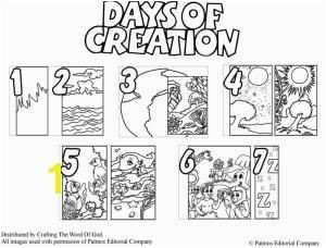 Days Creation Coloring Pages