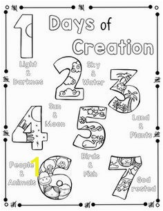 Days Of Creation Coloring Pages Days Creation Coloring Pages