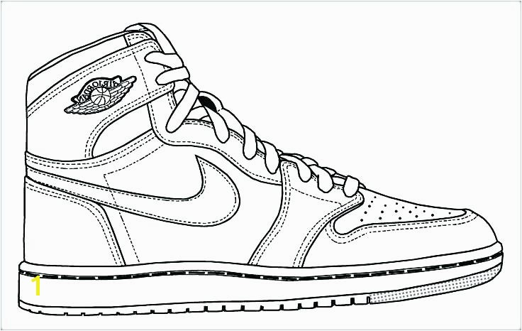 jordan coloring pages page drawn basketball shoe color logo