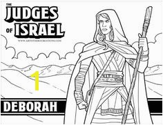The Judges of the Bible Coloring Pages Great for your VBS Sunday School or