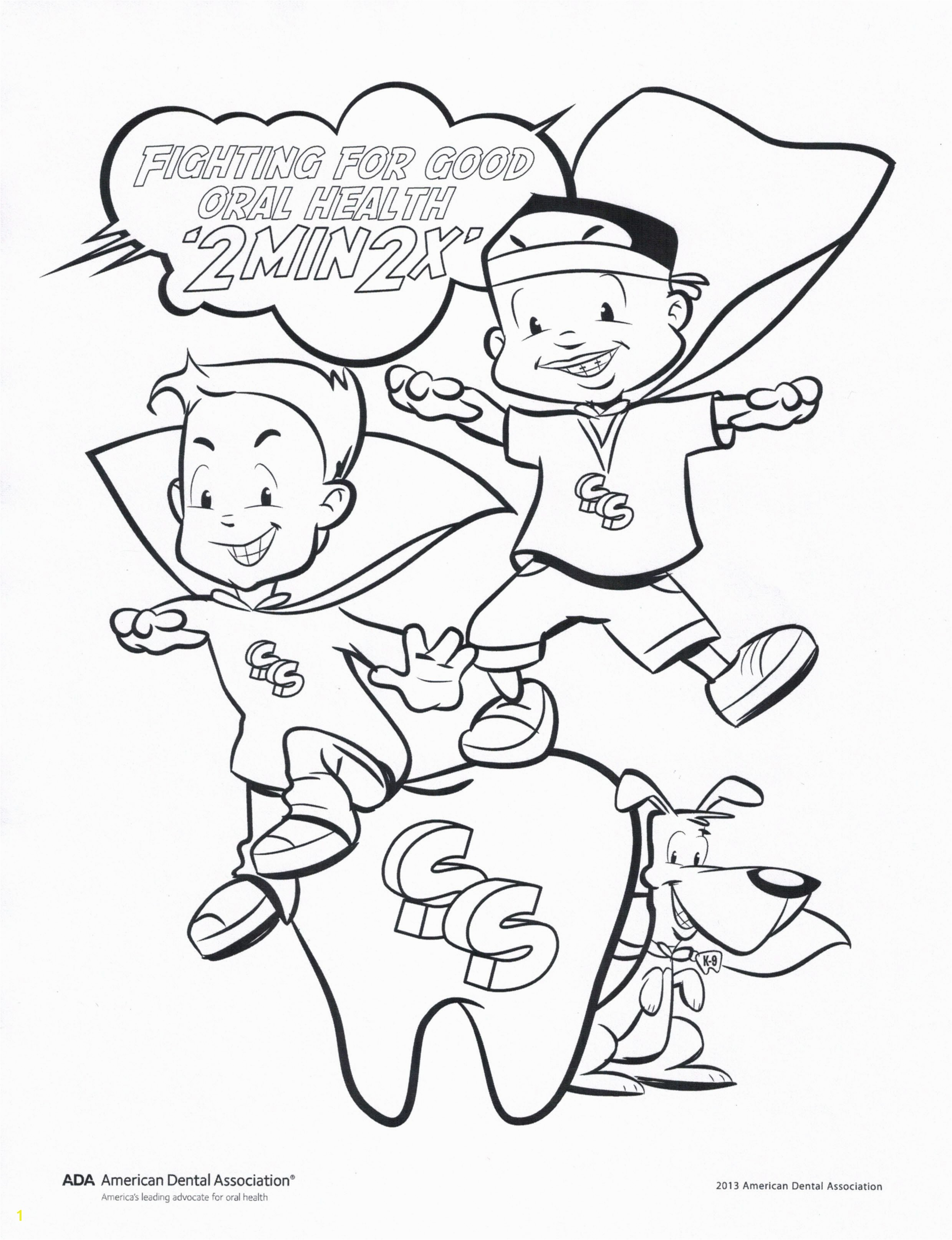 dental coloring sheet fight for good oral health coloring page