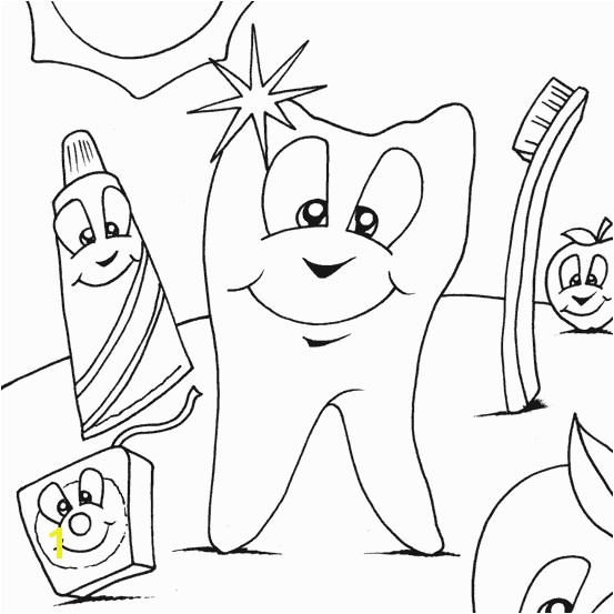 coloring sheets of dentist
